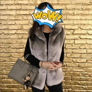 Like new Calvin Klein faux fur vest